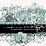 ColorFIX Misty Blue Embellishment Pack-$3.99 (Ettes and Company by Fayette)