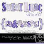 ColorFIX Sweet Lilac Alphabet Pack-$1.49 (Ettes and Company by Fayette)