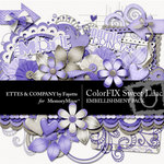 ColorFIX Sweet Lilac Embellishment Pack-$3.99 (Ettes and Company by Fayette)