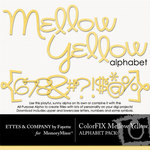 ColorFIX Mellow Yellow Alphabet Pack-$1.49 (Ettes and Company by Fayette)