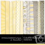 ColorFIX Mellow Yellow Paper Pack-$2.99 (Ettes and Company by Fayette)