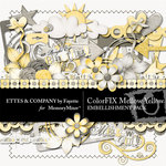 ColorFIX Mellow Yellow Embellishment Pack-$3.99 (Ettes and Company by Fayette)