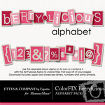 ColorFIX Berrylicious Alphabet Pack-$1.49 (Ettes and Company by Fayette)