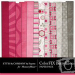 ColorFIX Berrylicious Paper Pack-$2.99 (Ettes and Company by Fayette)