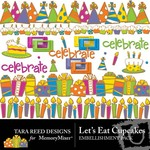 Lets Eat Cupcakes Embellishment Pack-$2.99 (Tara Reed Designs)