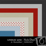 Sick Days Embossed Paper Pack-$1.99 (Lindsay Jane)