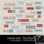 Sick Days WordArt Pack-$1.99 (Lindsay Jane)