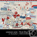 Sick Days Embellishment Pack-$3.49 (Lindsay Jane)