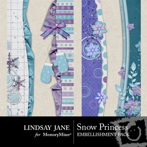 Snow princess borders medium