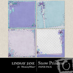 Snow Princess Deco Paper Pack-$1.99 (Lindsay Jane)