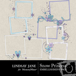 Snow Princess Frame Pack-$1.99 (Lindsay Jane)