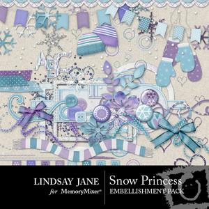 Snow princess emb medium