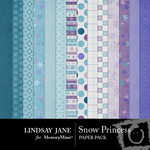 Snow Princess Paper Pack-$3.49 (Lindsay Jane)