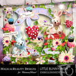 Little Bunny Wish Embellishment Pack-$2.99 (MagicalReality Designs)