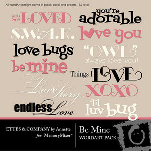 Be mine wordart ettes medium