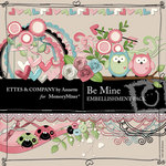 Be Mine Embellishment Pack Ettes by Annette-$3.49 (Ettes and Company by Annette)