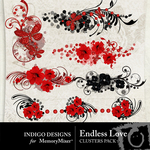 Endless Love Cluster Pack-$1.19 (Indigo Designs)