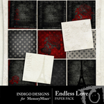 Endless Love Paper Pack-$2.09 (Indigo Designs)
