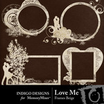 Love Me Frames Beige Pack-$2.49 (Indigo Designs)
