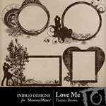 Love Me Frames Brown Pack-$2.49 (Indigo Designs)