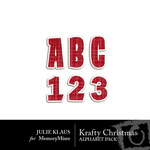 krafty Christmas Alphabet Pack-$0.99 (Julie Klaus)