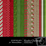 krafty Christmas Paper Pack-$3.49 (Julie Klaus)