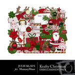 krafty Christmas Embellishment Pack-$2.99 (Julie Klaus)