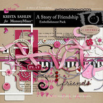 A Story of Friendship Embellishment Pack-$3.49 (Krista Sahlin)