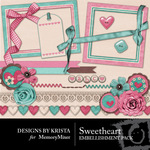Sweetheart DBK Embellishment Pack-$2.49 (Designs by Krista)