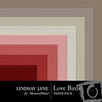 Love Birds Embossed Paper Pack-$1.99 (Lindsay Jane)