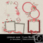 Love Birds Frame Pack-$1.19 (Lindsay Jane)