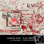 Love Birds Embellishments-$3.49 (Lindsay Jane)