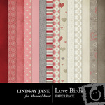 Love Birds Papers-$3.49 (Lindsay Jane)