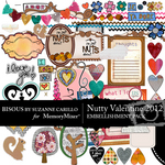 Nutty Valentine 2012 Embellishment Pack-$2.99 (Bisous By Suzanne Carillo)