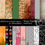 Nutty Valentine 2012 Paper Pack-$3.49 (Bisous By Suzanne Carillo)