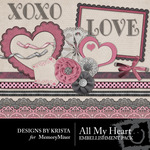 All My Heart Embellishment Pack-$1.99 (Designs by Krista)