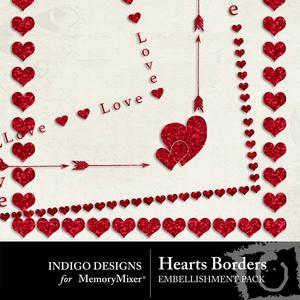 Hearts border pack medium