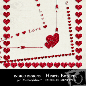 Hearts border pack medium