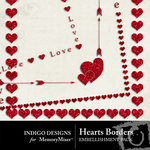Hearts border pack small