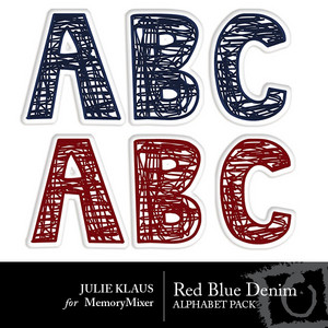 Red blue denim alpha medium