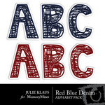 Red Blue Denim Alphabet Pack-$1.99 (Julie Klaus)