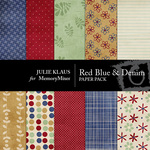 Red Blue Denim Paper Pack-$1.75 (Julie Klaus)