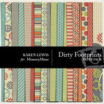 Dirty Footprints Paper Pack-$3.49 (Karen Lewis)