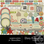 Dirty Footprints Embellishment Pack-$2.99 (Karen Lewis)