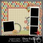 Dirty Footprints QuickMix-$2.40 (Karen Lewis)
