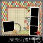Dirty Footprints QuickMix-$3.99 (Karen Lewis)