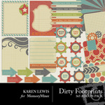 Dirty Footprints 365 Add On Pack-$2.99 (Karen Lewis)