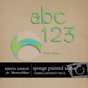 Sponge paint alpha medium