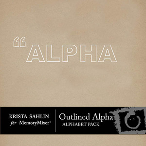 Outlined alpha medium
