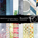 Beautiful Mess Paper Pack-$3.49 (Bisous By Suzanne Carillo)